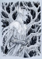 Frosty winter in Mirkwood by Candra
