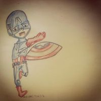 Sketch 14 Captain America by pascalscribbles
