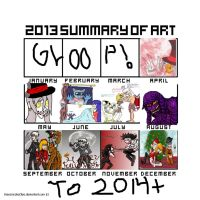 2013 Summary Of Art Meme by QweXTheXEccentric