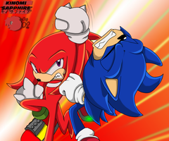Sonic, Knuckles-Kinomi Collab by SiscoCentral1915