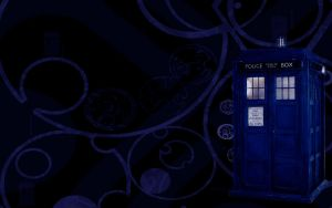 TARDIS Wallpaper by Koshka-Stuff