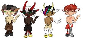 satyrs fauns adopts by Sir-Richy