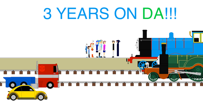 3 Years on DeviantART! by steamdiesel