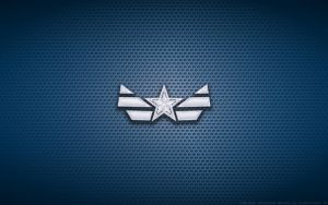 Wallpaper - Captain America 'New Costume' Logo by Kalangozilla