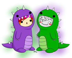 Dino Buddies by RainbowFrosting