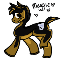 My sister wanted on of my Dogs as a Pony by FizzyFlatSoda