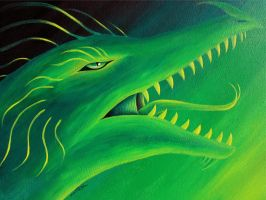 Green Dragon - Acrylics by machine-guts