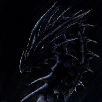 Dragon head of blackness by ShadowDragon22