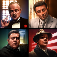 Godfather Slots Symbols 1 by AaronGriffinArt