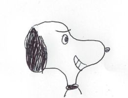 Sly smiling Snoopy by dth1971