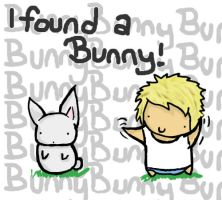 I found a bunneh. by paperplanez