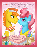 Bronies-NYC February Poster (with John Joseco!) by purpletinker