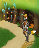 Butterfly Forest by Aquillic-Tiger