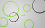 Linux Mint Circles Wide by Tithis