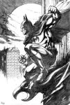 Batman over Gotham by dfbovey