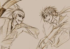 doodle renji and reno by pandabaka