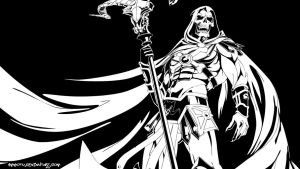 Skeletor lineArt by Ammotu