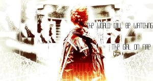 The World will be Watching the Girl on Fire by bubblenubbins