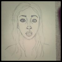 WIP:Shocked portrait by waffle-faceXD