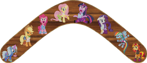 Ponies in Equestria Girls Outfits Boomerang by Out-Buck-Pony