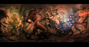 Diablo 3: Dungeon Party by kunkka