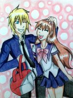 CONTEST ENTRY: Aden and Yuna by Midnyte-Wolff