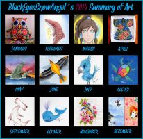 2014 summary of art by BlackEyesSnowAngel