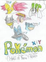 My Pokemon X and Y Team: Hall of Fame by Sonicdude645
