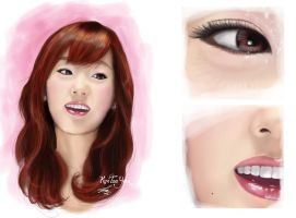 digital painting snsd taeyeon by landycakep