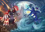 Omega Ruby and Alpha Sapphire by EagleIronic