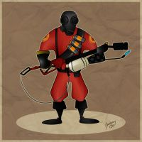 TF2 Pyro: Commission by Niza-Niabock