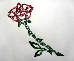Celtic Rose by BumbleBre