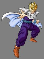 Adult Gohan SSJ, Cell Saga Outfit by hsvhrt