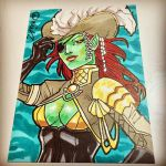 Commission: MTG Pirate Merfolk 01 by micQuestion