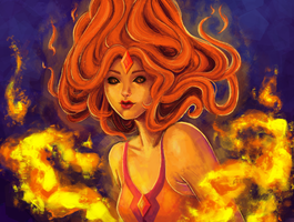 Flame Princess by bonezie