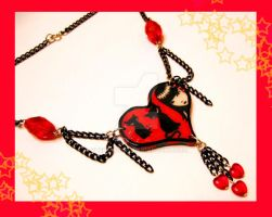 Emily Strange Necklace by cherryboop