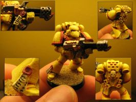 Imperial Fists Space Marine by Arival