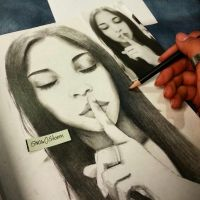 Drawing Portrait by snow0storm