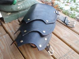Leather Pauldron by SteamViking
