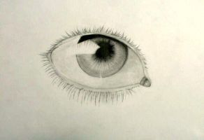 Realistic Eye by Hedwigs-art