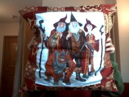 Terry Pratchett Cushion Cover by kastrel