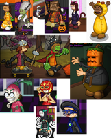 Halloween Customers Collage by hershey990