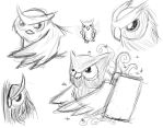 Owls - sketch by MoonLight-okami