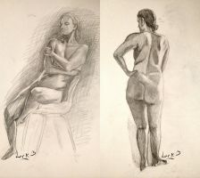 Life drawing studies #3 - female by 7AirGoddess3