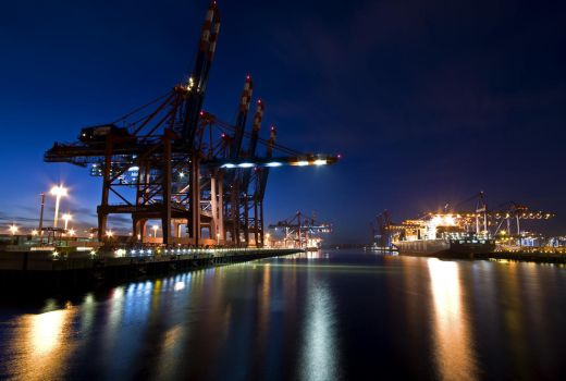 Long Exposure container port by Bull04