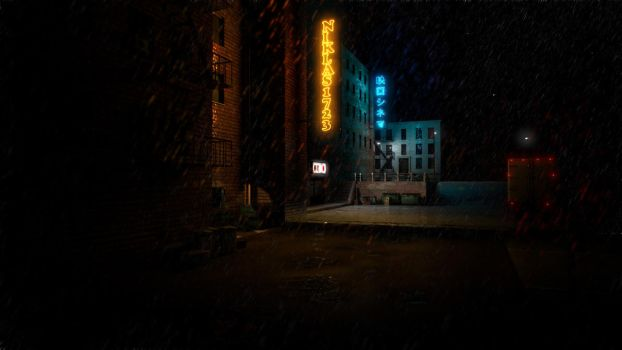 Rainy Night by Artificialproduction