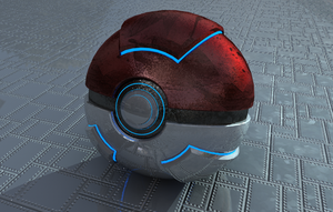 Realistic Pokeball by FinnAkira