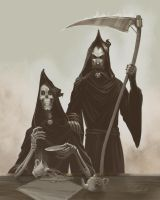 Patrician and Death by gaallo