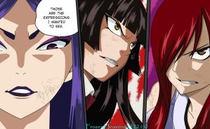 Erza, Kagura, and Minerva chapter 312 by frozenheavens222211