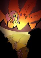 Sunset in Ponyville by labba94